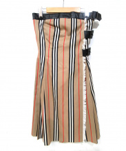 BURBERRY LONDON(バーバリーロンドン)の古着「ストライプキルトスカート」