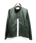 yoshio kubo(ヨシオ クボ)の古着「スタンドカラージャケット」|グリーン