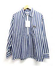 FLAGSTUFF(フラッグスタッフ)の古着「プルオーバーシャツ」|ブルー