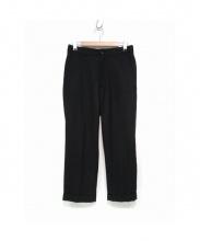 steven alan(スティーブン アラン)の古着「SAXONY BUGGY STRAIGHT PANTS」 ブラック