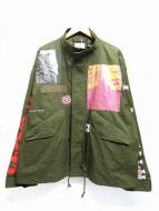 FLAGSTUFF×PEKO×BEAMS T(フラッグスタッフ×ペコ×ビームスティー)の古着「ジャケット」 オリーブ