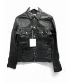 FLAGSTUFF(フラッグスタッフ)の古着「ラムレザートラッカージャケット」|ブラック