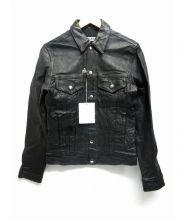 FLAGSTUFF(フラッグスタッフ)の古着「ラムレザートラッカージャケット」 ブラック