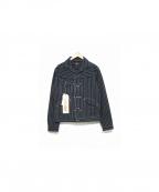 Stevenson Overall Co.(スティーブンソンオーバーオール)の古着「DEPUTYヒッコリージャケット」|ブラック