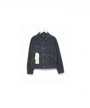 Stevenson Overall Co.(スティーブンソン オーバーオール)の古着「DEPUTYヒッコリージャケット」|ブラック