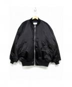 Hed Mayner(ヘド メイナー)の古着「オーバーサイズボンバージャケット」|ブラック