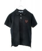 PLAY COMME des GARCONS(プレイコムデギャルソン)の古着「後染めブラックハートワッペンポロシャツ」
