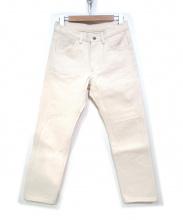 COMOLI(コモリ)の古着「ホワイトデニムパンツ」