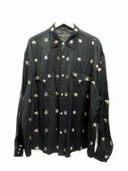 FLAGSTUFF(フラグスタッフ)の古着「WESTERN L/S SKA SHIRTS」|ブラック
