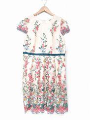 Rose Tiara(ローズティアラ)の古着「チュールレース刺繍ワンピース」