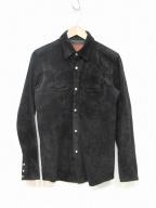 RUDE GALLERY BLACK REBEL(ルードギャラリー ブラックレーベル)の古着「ピッグスキンスエードシャツ」 ブラック