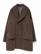 COMOLI(コモリ)の古着「ヤクメルトンショールカラーコート」|ブラウン