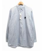 PLAY COMME des GARCONS(プレイコムデギャルソン)の古着「ハートワッペンストライプシャツ」