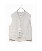 45R(フォーティファイブアール)の古着「リネンのベスト」|アイボリー