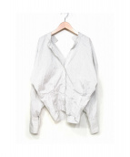 SUPER TML MARKET(スーパー・ティエムエルマーケット)の古着「シャツ」|ホワイト×グレー
