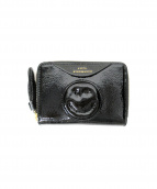 ANYA HINDMARCH(アニヤハインドマーチ)の古着「パテントミニ財布」 ブラック