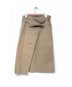 45rpm(45アールピーエム)の古着「ベルト付スカート」|ベージュ
