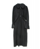 Yohji Yamamoto(ヤマモトヨウジ)の古着「デザインコート」|ブラック