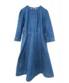 YOSHIYO(ヨシヨ)の古着「デニムドレスワンピース」|インディゴ