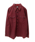 BLACK SIGN(ブラックサイン)の古着「シャツ」|ボルドー