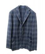 Belvest(ベルベスト)の古着「ウールカシミヤジャケット」 ネイビー×グレー
