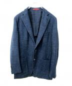 ISAIA(イザイア)の古着「シルクカシミヤ混ウールジャケット」 ネイビー