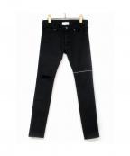 SUB-AGE.(サベージ)の古着「スキニーデニムパンツ」|ブラック