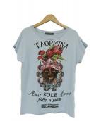 DOLCE & GABBANA(ドルチェアンドガッバーナ)の古着「TAORMINAプリントTシャツ」 スカイブルー