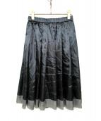 COMME des GARCONS(コムデギャルソン)の古着「デザインサテンスカート」|ブラック