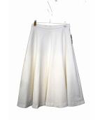 MUSE de Deuxieme Classe(ミューズデドゥーズィエム クラス)の古着「ダブルクロスミディアムフレアースカート」|ホワイト