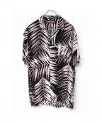 DOUBLE RAINBOUU(ダブルレインボー)の古着「ハワイアンシャツ」|ブラック