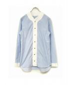 MARIE MAROT(マリ マロ)の古着「デザインシャツ」|スカイブルー