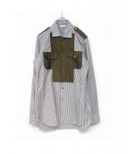 kazuki nagayama(カズキ ナガヤマ)の古着「デザインシャツ」|ライトグレー