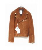 A PUPIL(ア ピューピル)の古着「スウェードライダースジャケット」|ブラウン