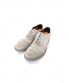 foot the coacher(フットザコーチャー)の古着「スウェードメダリオンシューズ」|ライトグレー
