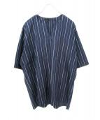 juha(ユハ)の古着「ストライプシャツ」 ネイビー