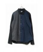 BLACK COMME des GARCONS(ブラックコムデギャルソン)の古着「パターンシャツ」|ネイビー×グレー
