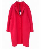 PINKO(ピンコ)の古着「チェスターコート」|ピンク