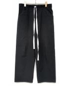 SUNSEA(サンシー)の古着「ワイドパンツ」|ブラック