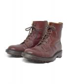 Trickers(トリッカーズ)の古着「シボ革ブーツ」|ボルドー