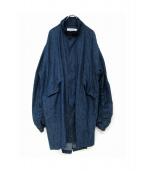 MR.COMPLETELY(ミスターコンプリートリー)の古着「デニムモッズコート」|ブルー