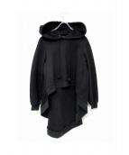 Lautashi(ラウタシー)の古着「レイヤードパーカー」|ブラック
