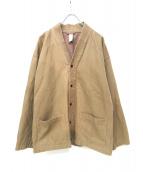 Ouur(アウアー)の古着「コットン半纏ジャケット」|ベージュ