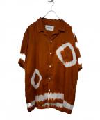 NOMA t.d.(ノーマティーディー)の古着「Summer Shirt-Tie Dye」 ブラウン