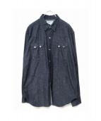 SASSAFRAS(ササフラス)の古着「デニムウエスタンシャツ」|インディゴ