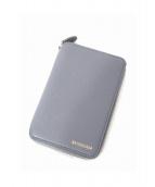 BALENCIAGA(バレンシアガ)の古着「ラウンドコンパクト財布」 ライトグレー