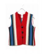 ORTEGAS(オルテガ)の古着「チマヨネイティブベスト」|レッド