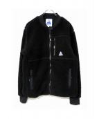 CAPE HEIGHTS(ケープハイツ)の古着「ボアフリースブルゾン」|ブラック