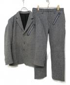 MINOTAUR(ミノトール)の古着「ツイードセットアップスーツ」|ライトグレー