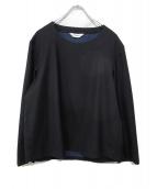 DIGAWEL(ディガウェル)の古着「ウールプルオーバーシャツ」|ネイビー